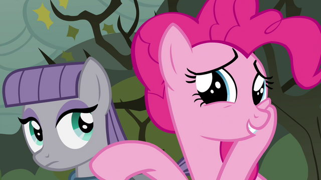 "File:Pinkie Pie flattered ""aw, shucks!"" S4E18.png"