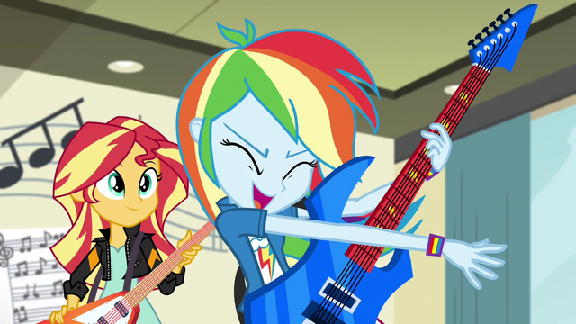 "File:Rainbow Dash ""we would totally rock it"" EG3.png"
