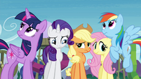 Twilight and friends thinking S4E18