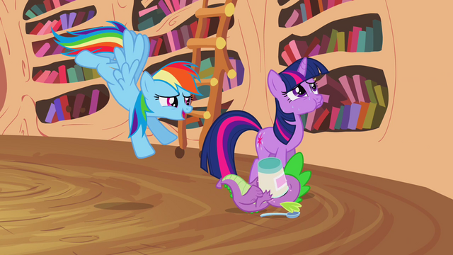 File:Rainbow, Twilight and Spike S2E20.png