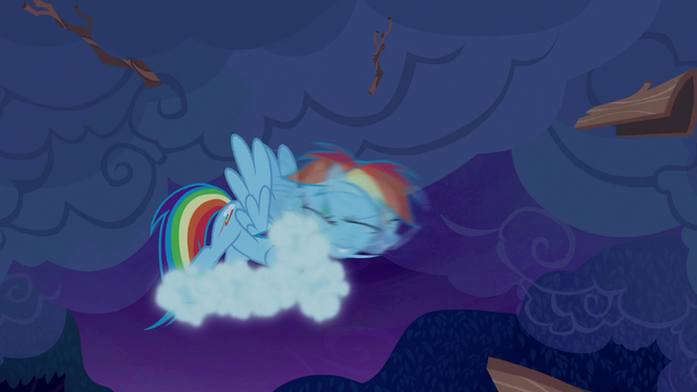 File:Rainbow shaking off clouds and tree bark S6E15.png