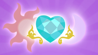 Celestia, Luna, and Cadance's cutie marks S4E25