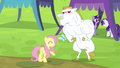 Fluttershy, Bulk Biceps and a butterfly S4E10.png