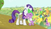 Spike hugging Rarity S4E23
