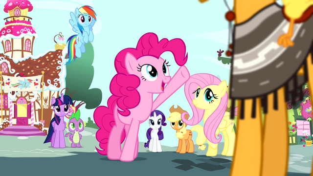 "File:Pinkie Pie ""what an amazing coincidence"" S4E12.png"