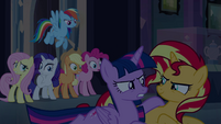 Twilight glares at Sunset Shimmer EG