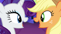 Rarity and Applejack singing S4E26