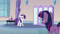 Rarity talking to Twilight S3E12