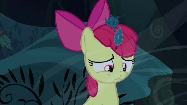 File:Apple Bloom listening to the voice speak S5E4.png