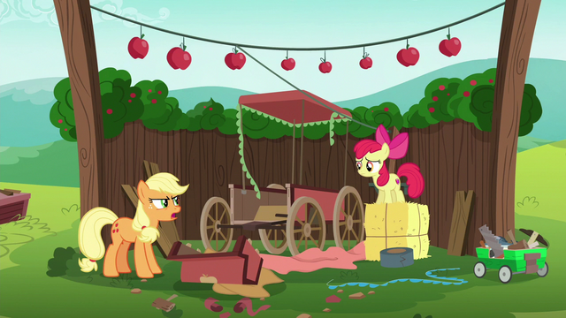 "File:Applejack ""now I've gotta start all over"" S6E14.png"