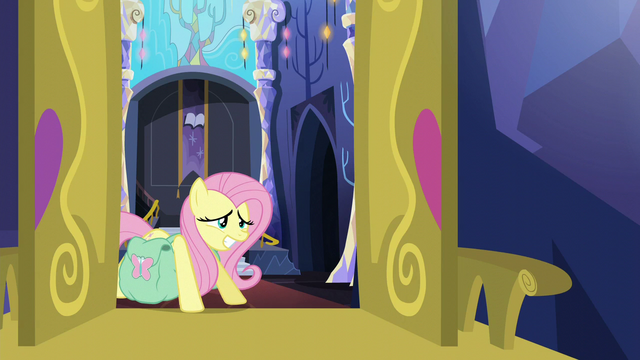 "File:Fluttershy straining ""I'm sure we'll figure it out"" S5E23.png"