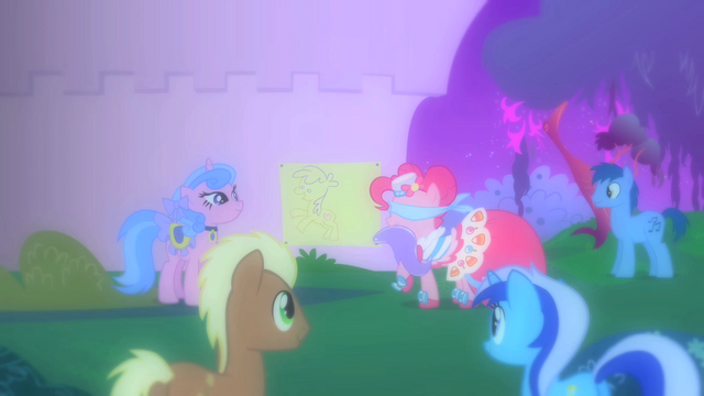 File:Pinkie Pie playing with ponies at the Gala S1E26.png