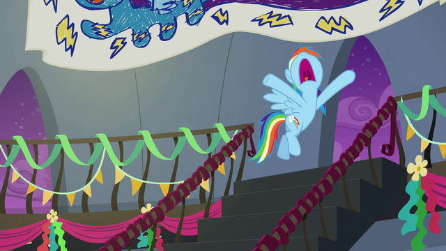 File:Rainbow Dash pretending to be tired S6E7.png