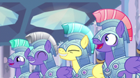 Royal guards cheering for Thorax S6E16