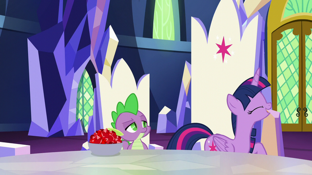 """File:Twilight """"breakthrough in the science of friendship!"""" S5E22.png"""