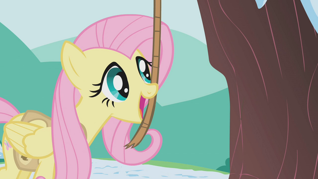 File:Fluttershy using bells strung on a rope S1E11.png