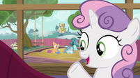 """Sweetie Belle """"Scootaloo's keeping Petunia busy"""" S6E19"""