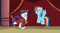 Rarity tries to channel Shadow Spade S5E15