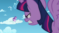 Twilight and Starlight look at each other angrily S5E26