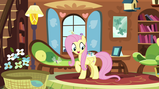 File:Fluttershy offering Breezies a snack S4E16.png