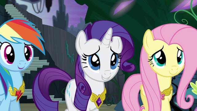 File:Ponies smiling at Twilight's speech S4E02.png