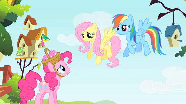 File:Pinkie Pie talks to Fluttershy and Rainbow Dash S1E25.png