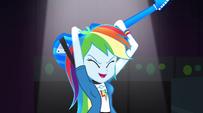 Rainbow Dash with guitar behind her head EG2