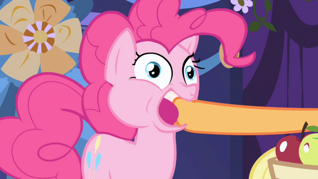 File:Applejack stuffs an apple into Pinkie's mouth S1E01.png