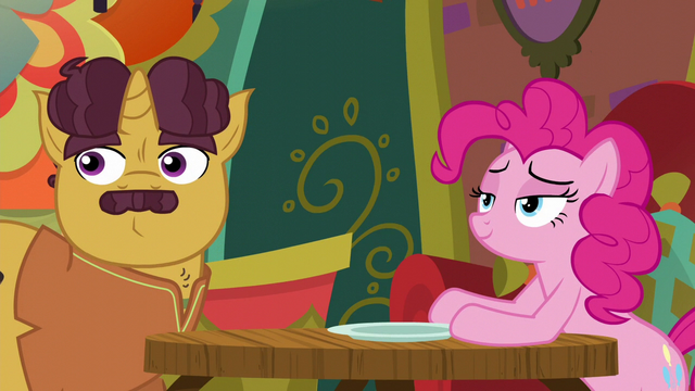 File:Pinkie and Coriander hear Rarity return S6E12.png