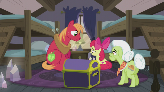 "File:Apple Bloom ""worst Hearth's Warmin' ever"" S5E20.png"