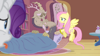 Fluttershy doting on Discord S4E11