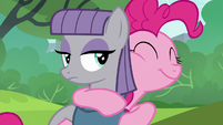 Pinkie and Maud share a warm hug S6E3