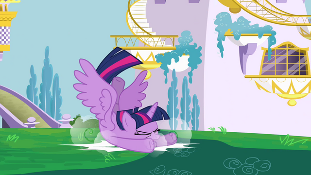 File:Twilight crashing into ground S4E01.png