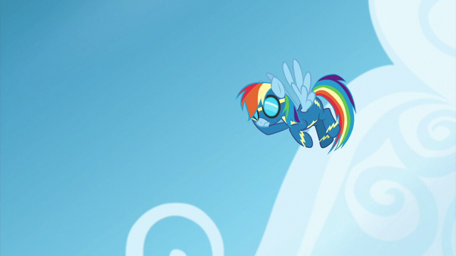 File:Rainbow Dash pauses in the air S6E7.png
