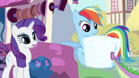 Rarity & Rainbow Dash spot catch S3E11