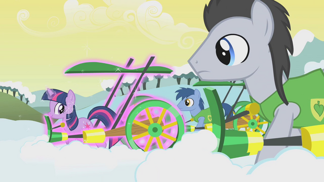 File:Lucky and Noteworthy stare at Twilight's magic plough S1E11.png