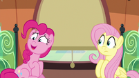 "Pinkie sustaining a nervous ""great..."" S6E18"