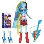 Rainbow Dash Equestria Girls Rainbow Rocks doll with accessories