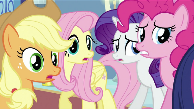 File:Applejack, Fluttershy, Rarity and Pinkie S2E25.png
