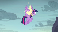 Cupcake splats in Twilight's face S5E23