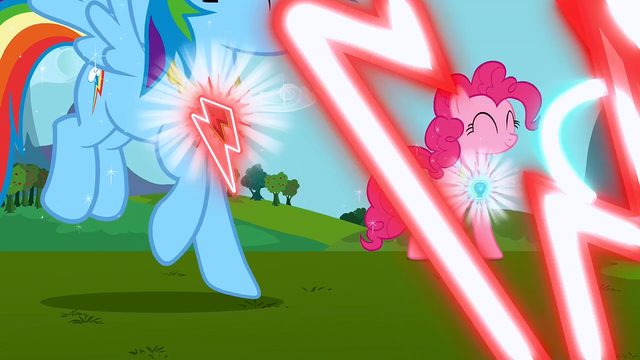 File:Pinkie Pie and Rainbow Dash's elements activating S3E10.png
