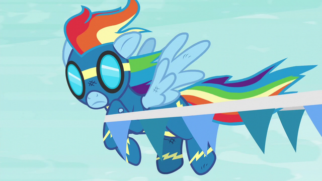 File:Rainbow gets caught in a banner S6E7.png