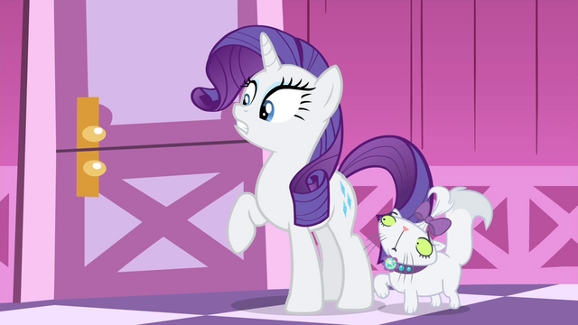 File:Rarity and Opal listening to Sweetie ranting inside her room S4E19.png