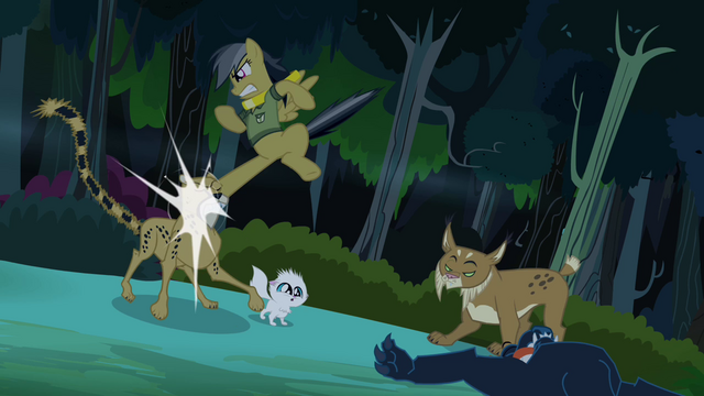 File:Daring Do kicks cheetah's face S4E04.png