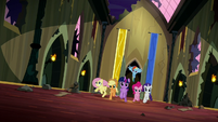 Mane Six storm into the throne room S5E13