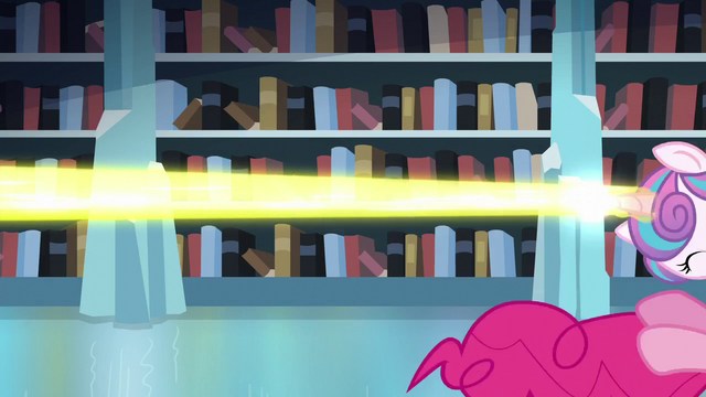 File:Flurry Heart's magic beam blast pushes her and Pinkie away S6E2.png