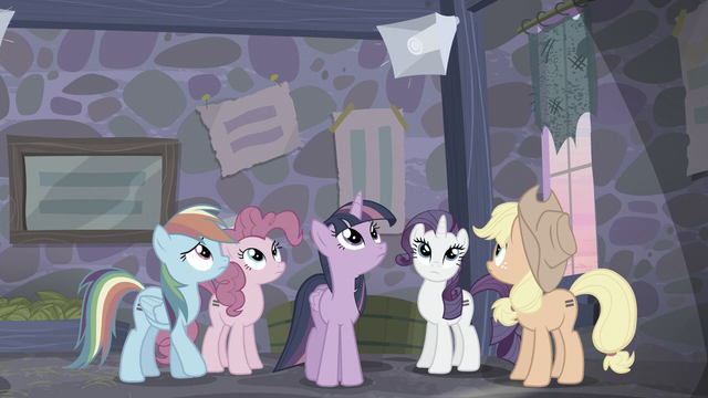 File:Main ponies hear Starlight's voice from loudspeaker S5E02.png