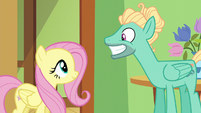 Zephyr Breeze giving a carefree grin S6E11