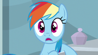 Rainbow Dash in captivated shock S6E13