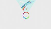 Slide of Rainbow Dash's first rainboom S5E25